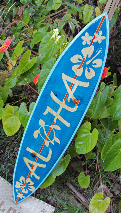 Beautiful made in hawaii artistic surfboards decorative for Surf decoration