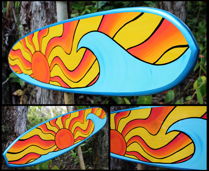 custom decorative surfboard
