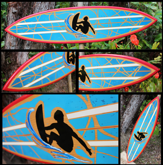 pollock surf art decorative surfboard