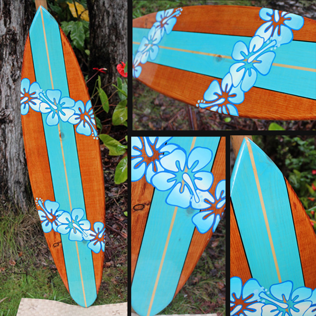 hawaiian decorative surfboard