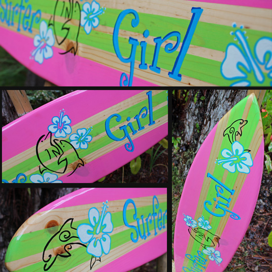 roxy decorative surfboard