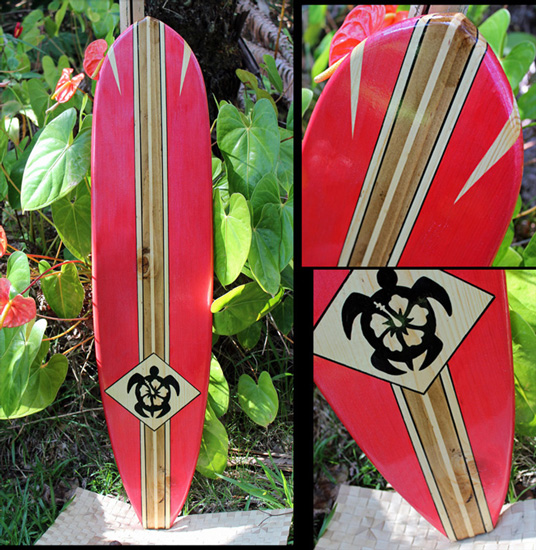 honu ohana decorative surfboard