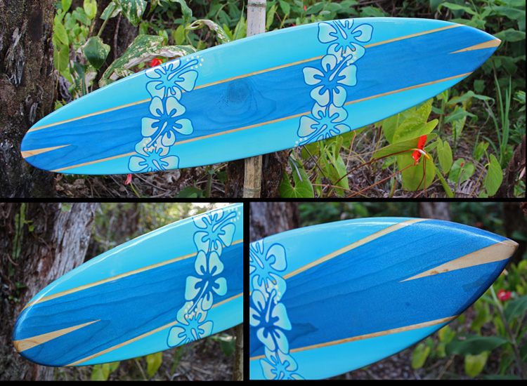 beautiful decorative surfboard art