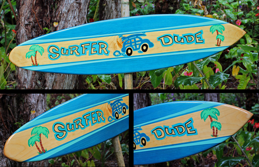 Original made in hawaii decorative surfboards decorative for Surf decoration