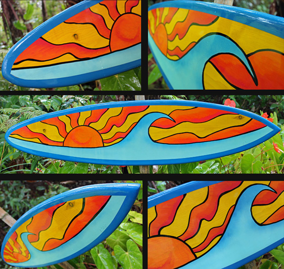 surf art decorative wood surfboard