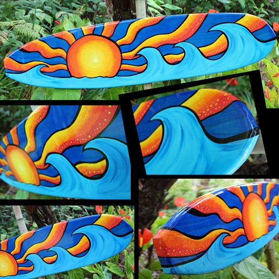 posca surf toon decorative surfboard